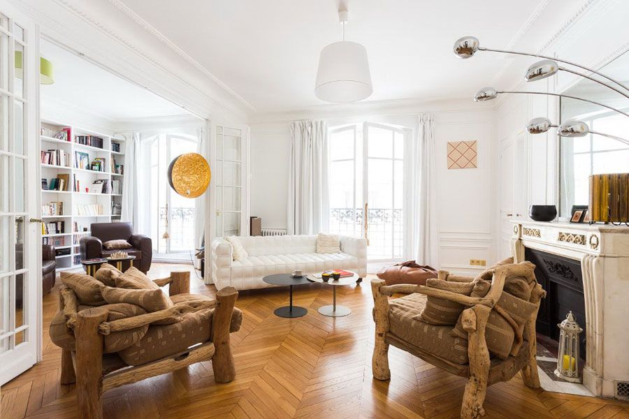 Eccentric Eclectic Style Apartment In Paris With African Motifs
