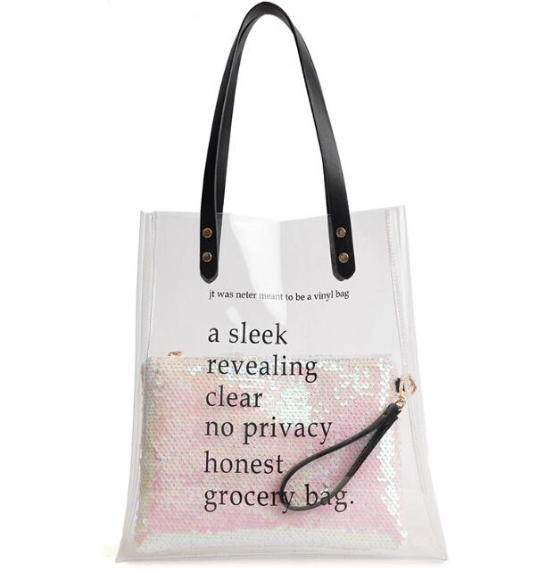 Ladies Clear Pvc Transparent Tote Bags Women S Plastic Shopping Bags Buy Pvc Transparent Tote Bag Plastic Shopping Bags Bags Plastic Shopping Bags Vinyl Bag