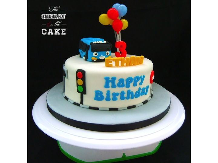 Tayo the Little Bus Cake Tayo Pinterest Bus cake Birthdays