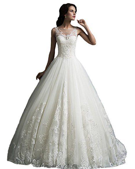 Angel Formal Dresses Women\'s Scoop Straps Vintage Lace Wedding ...