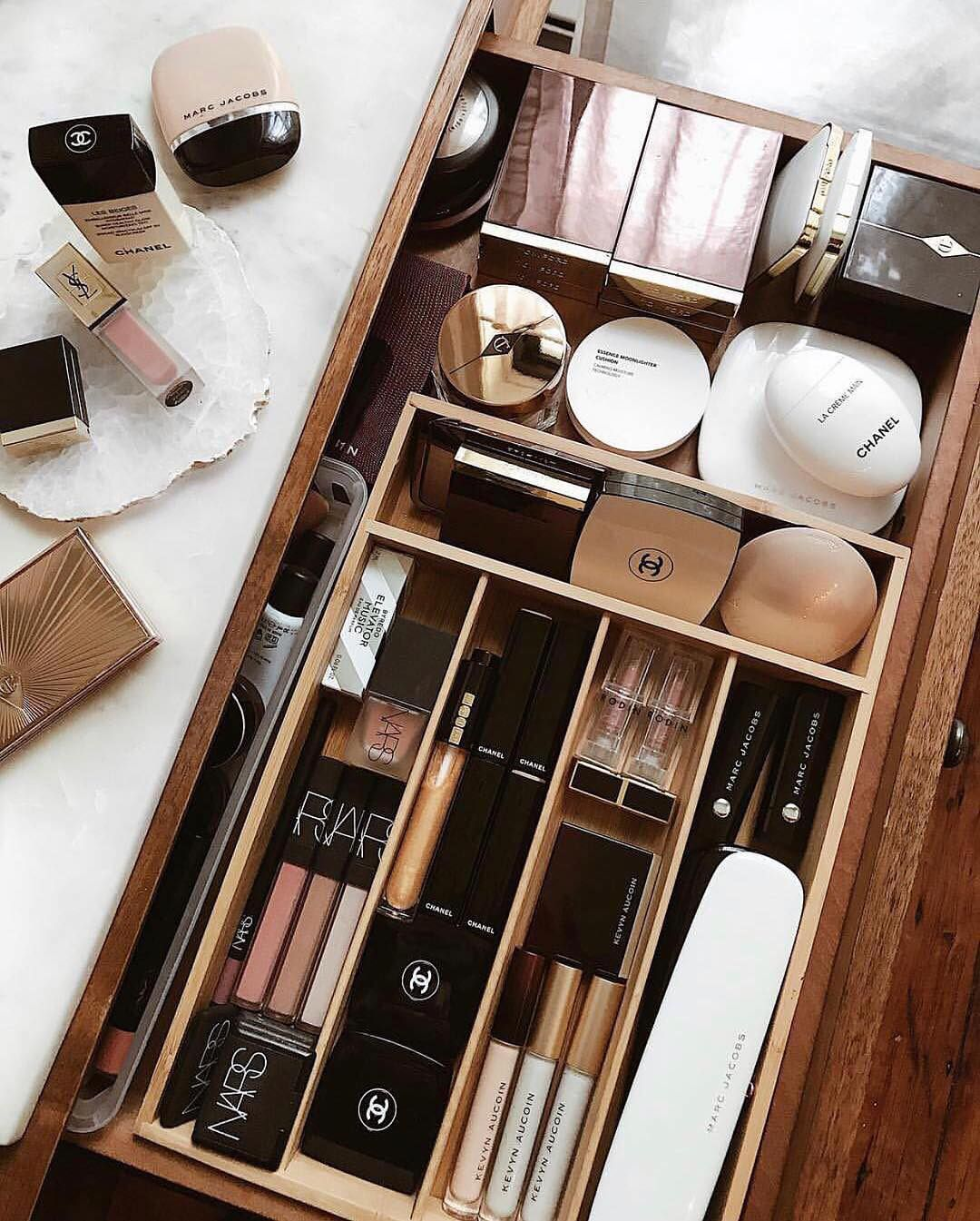 Happiness Is A Perfectly Organized Makeup Drawer Regram Ohuprettythings Make Up Schublade Organisation Schubladen Schminktisch Organisation