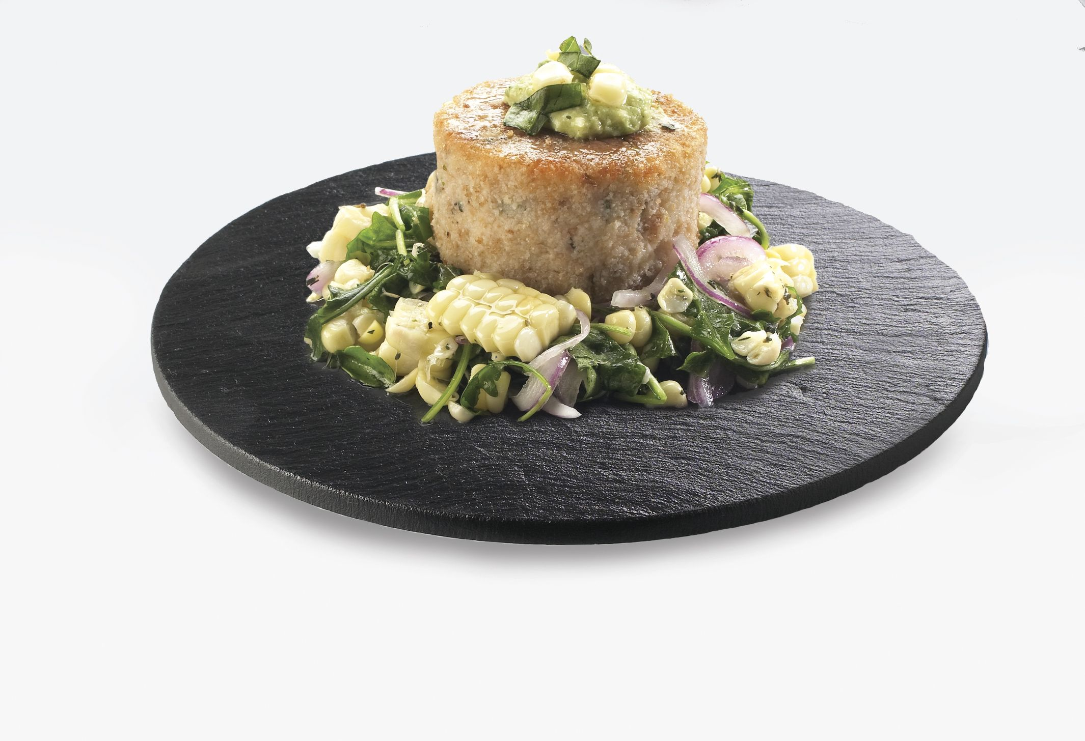 These round serving and display stones combines edged textures with sturdy design makes these serving stones the essential product to serve your food presentations.