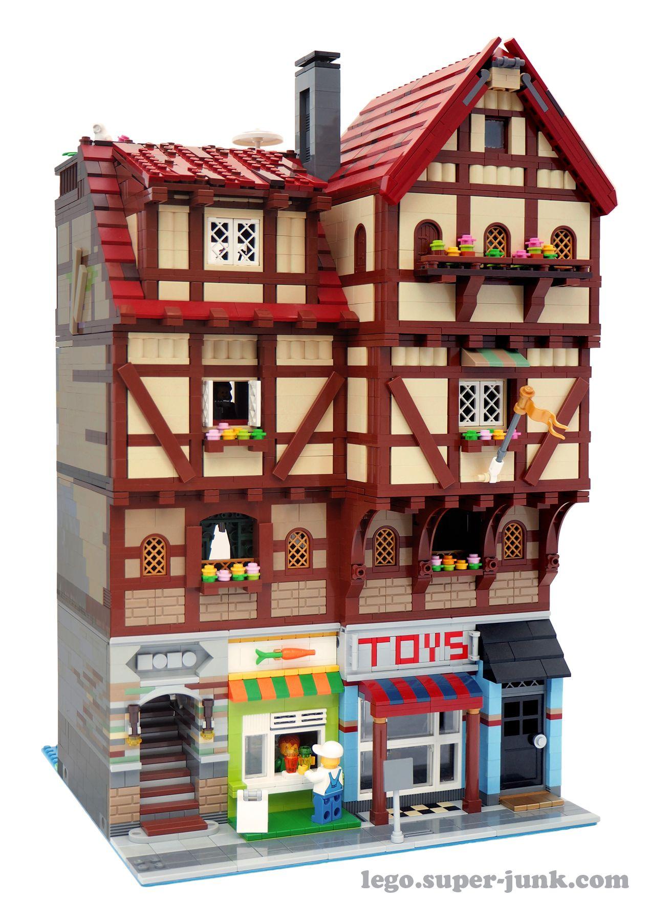 Current Version rebuilt facade Lego modular, Lego haus