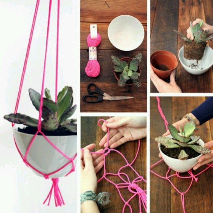 Diy hanging basket Maybe use a strainer