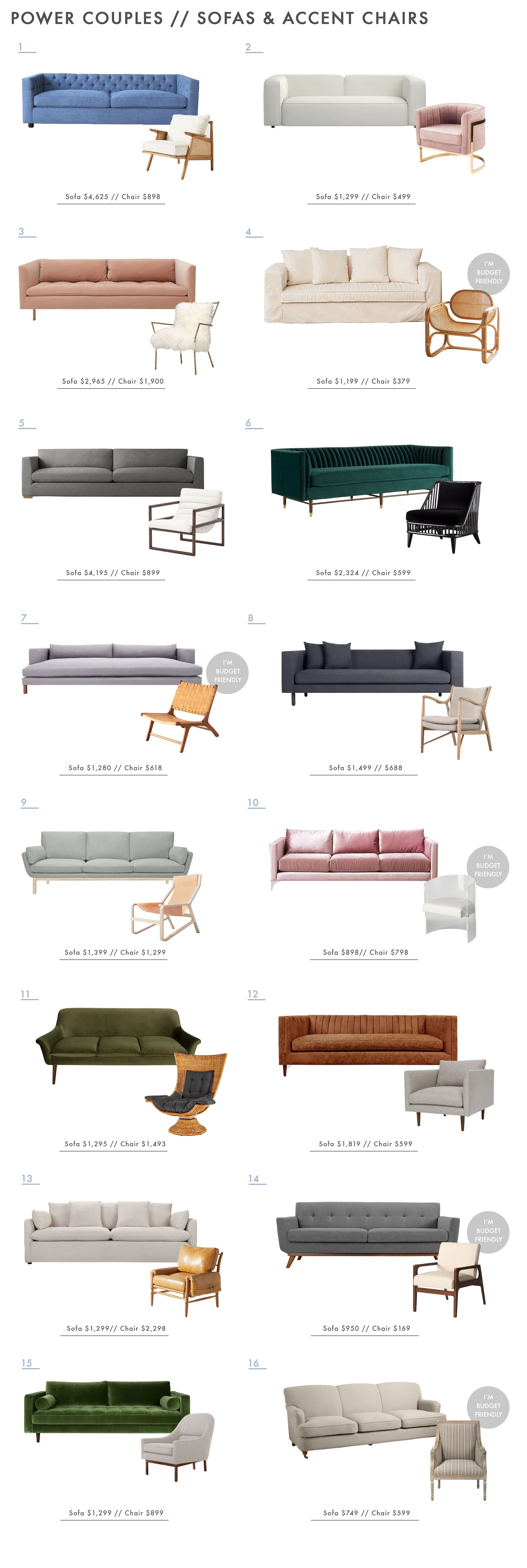 Power Couples Sofas Amp Accent Chairs A Few Rules