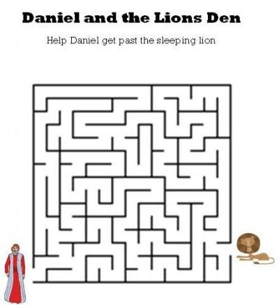 Worksheet Kindergarten Daniel 6: kids bible worksheetsfree printable daniel and the lions den maze ,