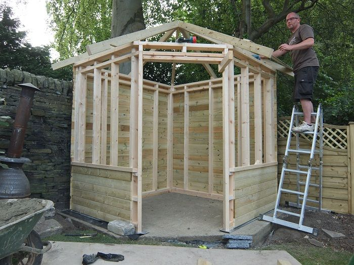Corner Summerhouse Roof Google Search Pagalms Pinterest