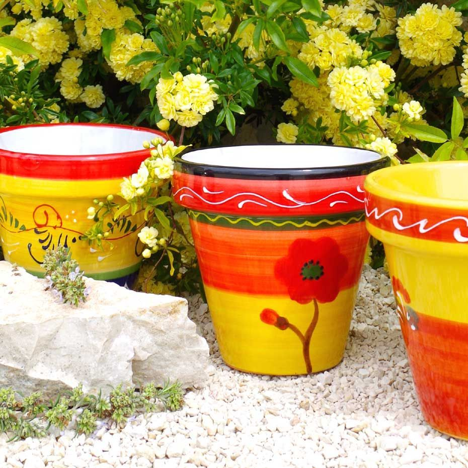 Ceramic garden pots wholesale spanish ceramics garden