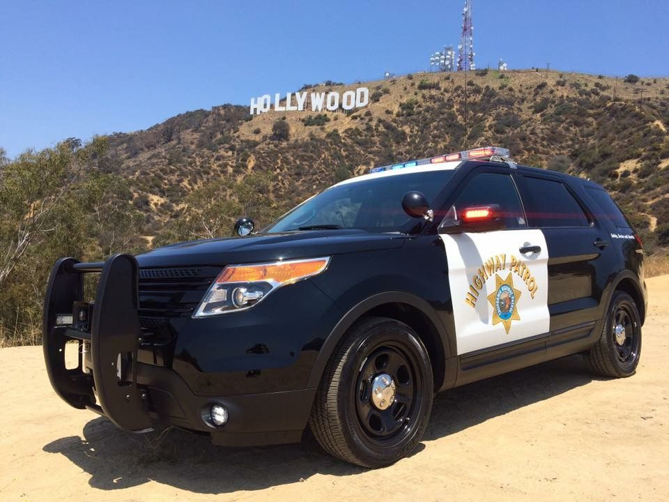 CHP in front of the Hollywood Sign! | Cop cars | Police