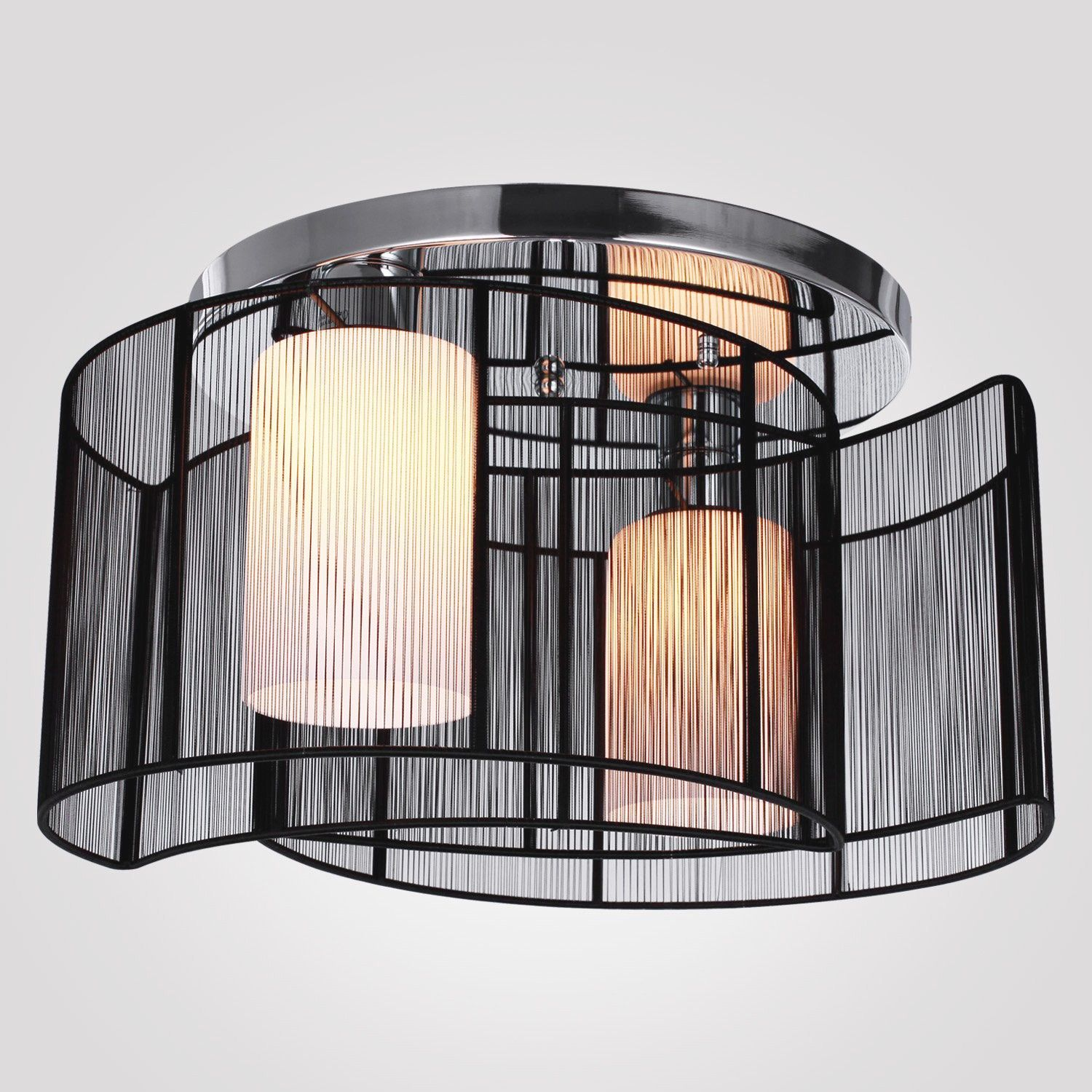 Decor Drum Lampshade For Semi Flush Mount Lighting With Home Interior Design Also Light