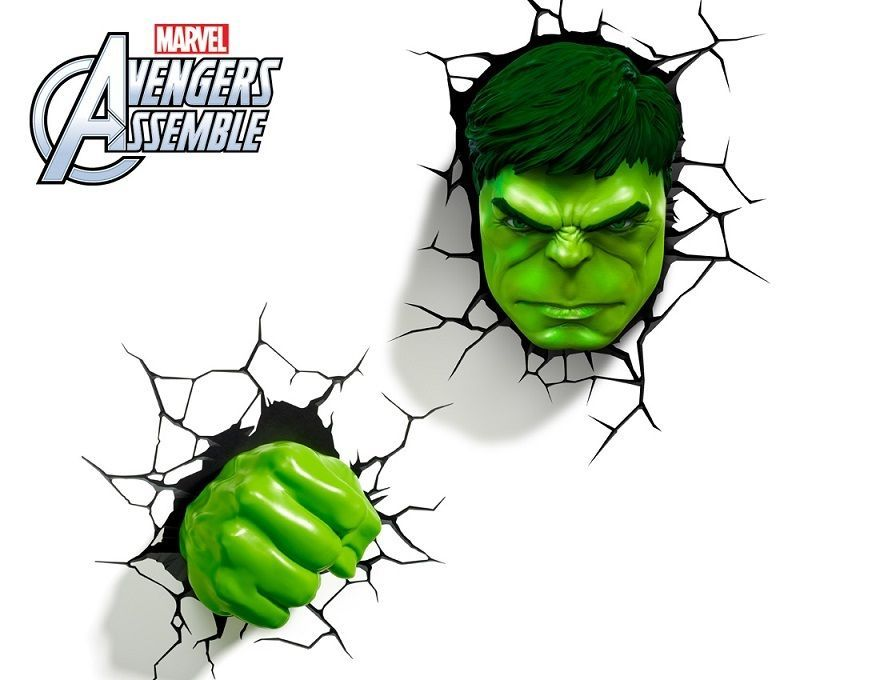 Marvel avengers hulk 3d deco light fx led wall light nightlight set marvel avengers hulk 3d deco light fx led wall light nightlight set ebay aloadofball Images