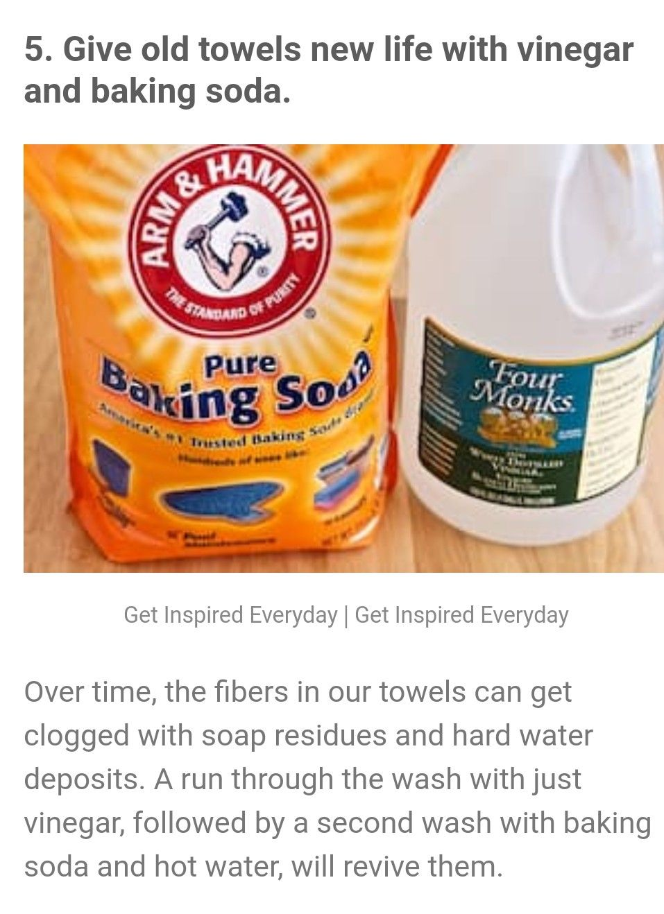 Vinegar Baking Soda Instead Of Laundry Detergent Baking Soda