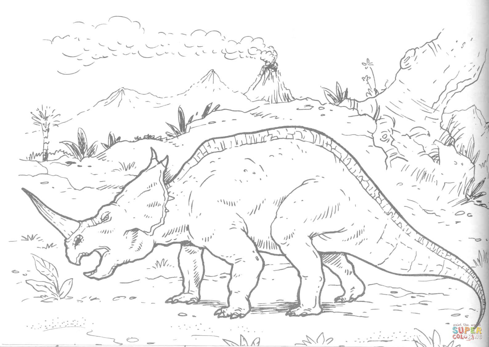 Centrosaurus Lambe Dinosaur Coloring Pages For Kids Dinosaur Coloring Pages Dinosaur Coloring