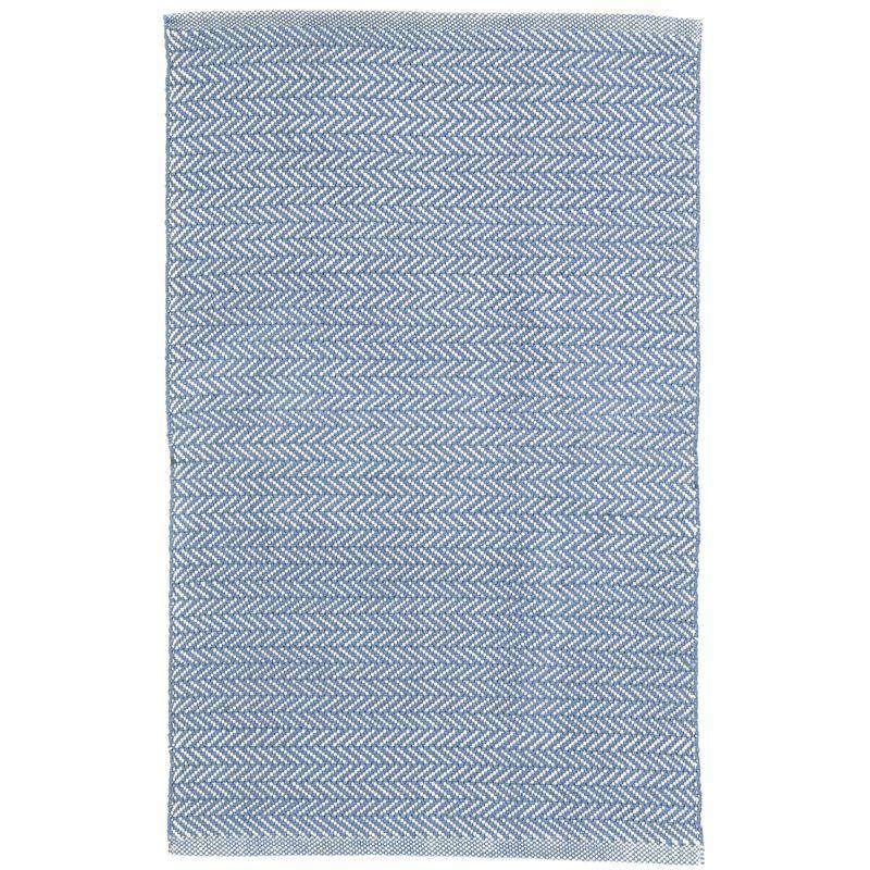 Herringbone Denim Blue Indoor Outdoor Area Rug In 2019 Rugs