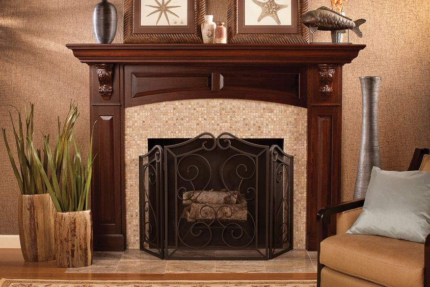 Fireplace Mantel The Corbels Feature An Ornate Acanthus