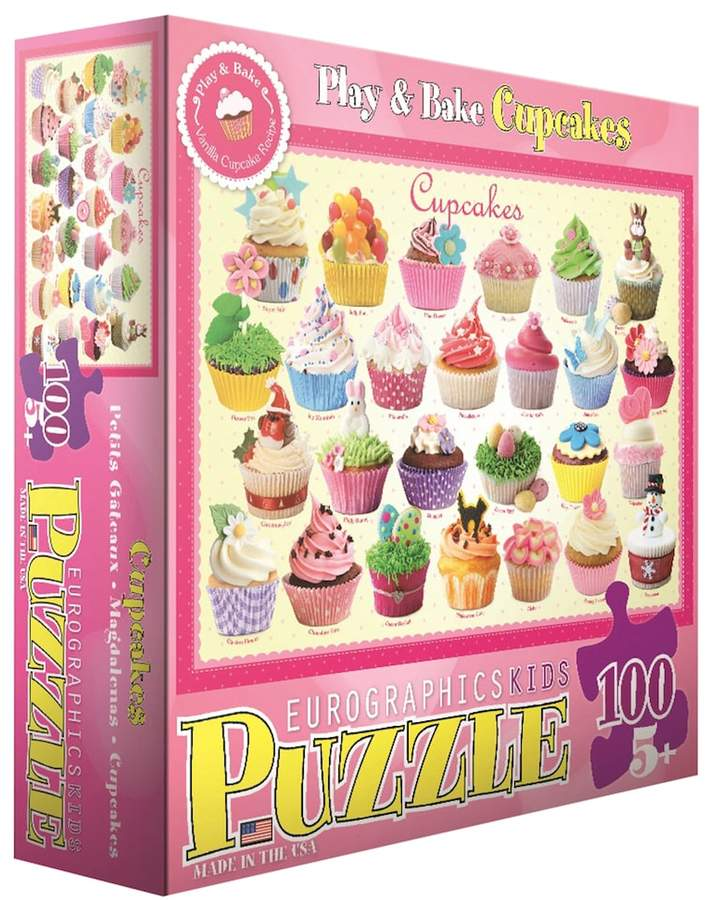 Play Bake Cupcakes 100 Pc Puzzle By Eurographics Inc Baking