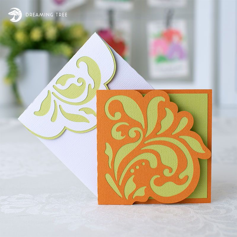 Floral Note Card (Free SVG) | Cricut ❤ | Svg files for cricut, Free