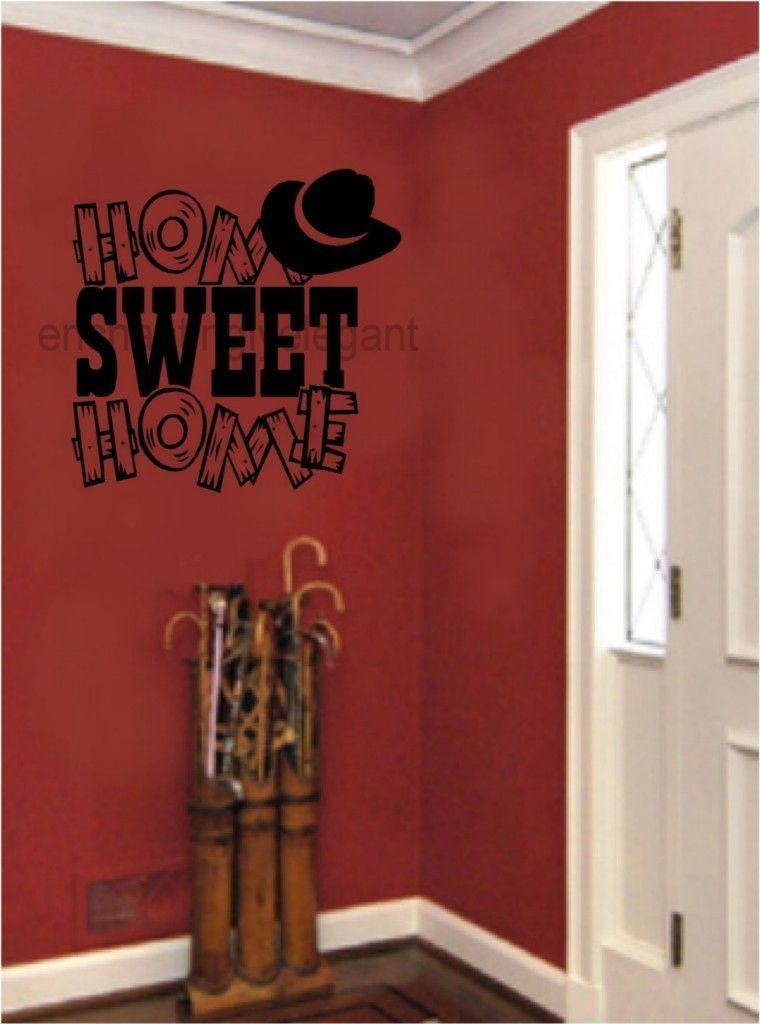 Details About Home Sweet Home Cowboy Western Vinyl Decal Wall
