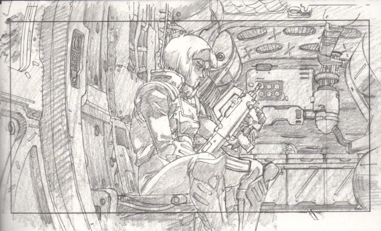 #GhostInTheShell #ghost #fantascienza #sciencefiction #future #Motoko #Kusanagi #sketching