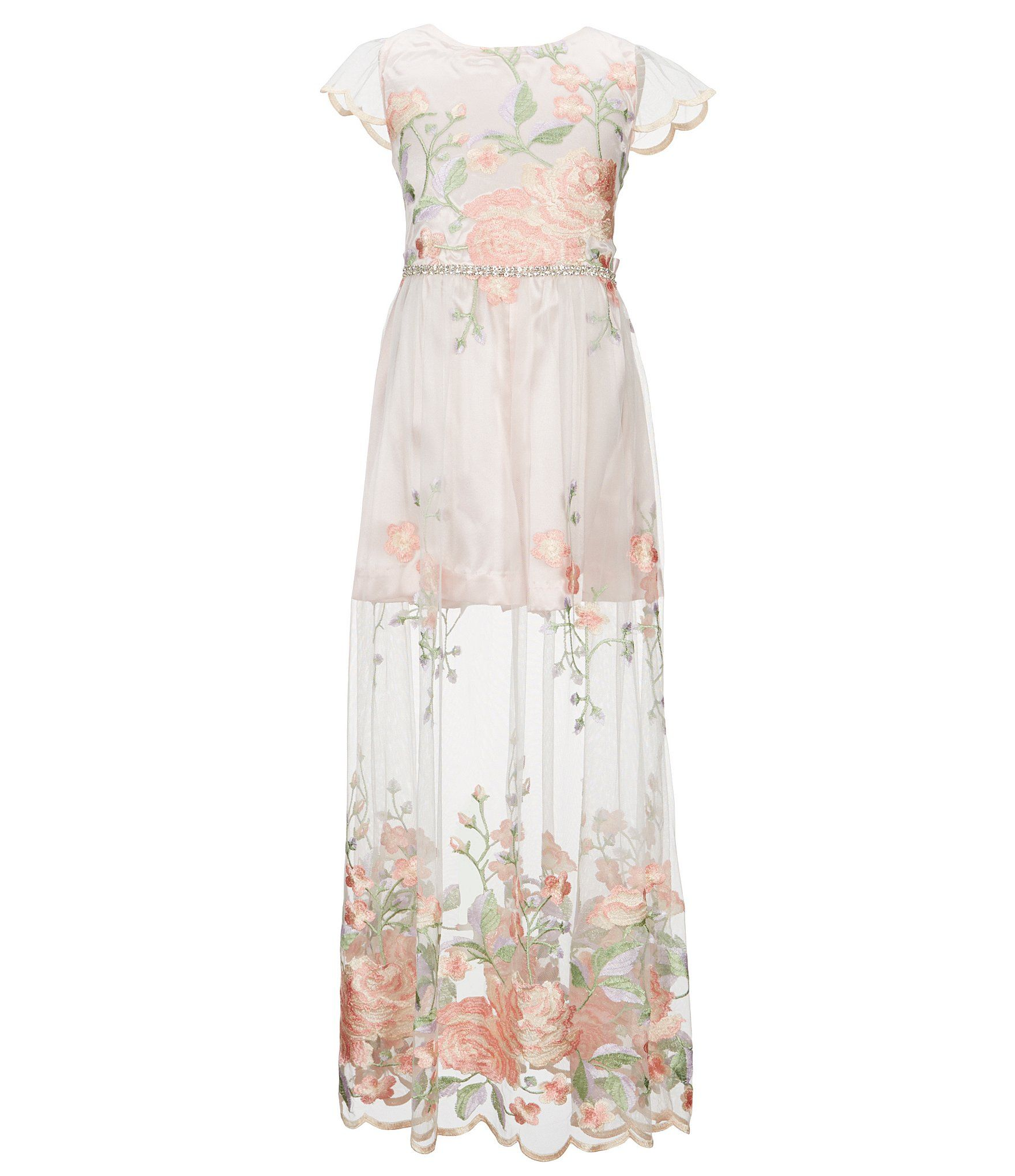 9000c6b2cf3 Shop for Rare Editions Big Girls 7-16 Floral-Embroidered Maxi Romper at  Dillards.com. Visit Dillards.com to find clothing
