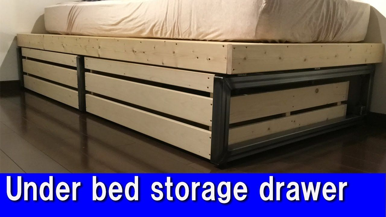Diy Under Bed Storage Drawer Youtube Bed Storage Drawers Under Bed Storage Under Bed