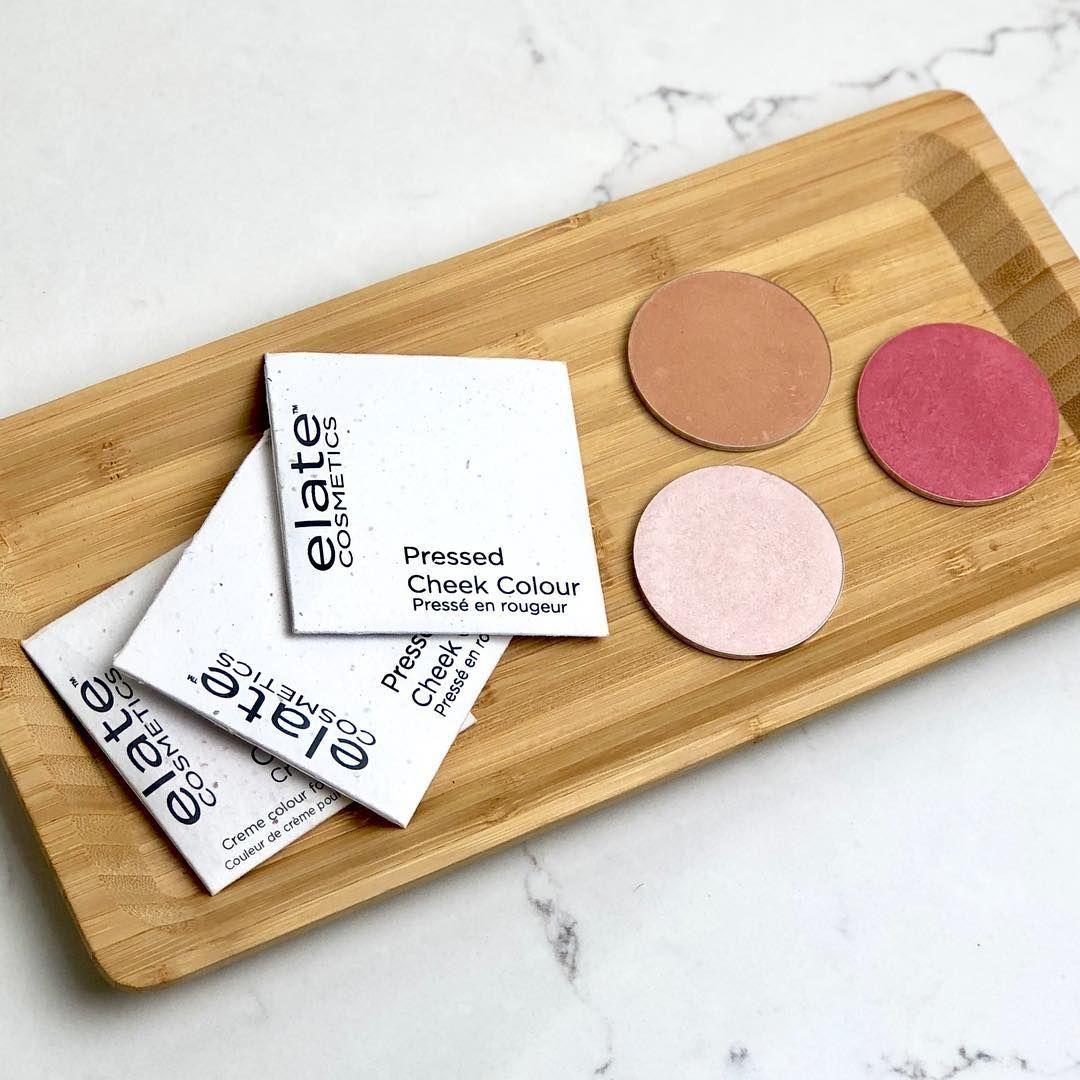 Elate Cosmetics eco friendly pressed cheek colours. Blush