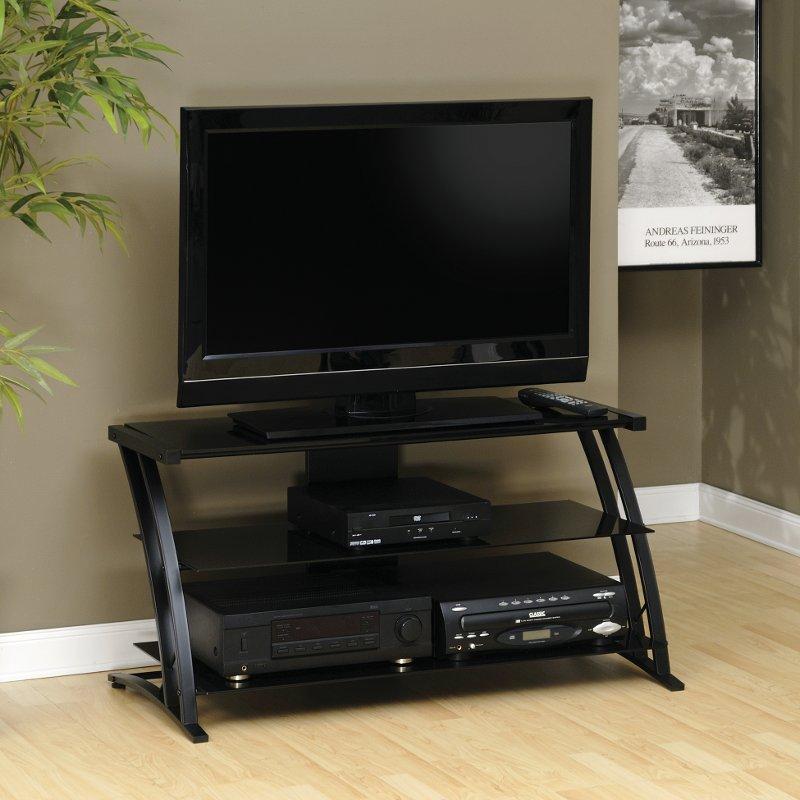Black Glass Panel Tv Stand Deco Glass Tv Stand Black Tv Stand Tv Stand Entertainment Center
