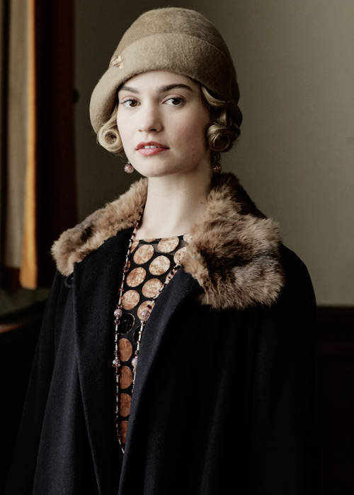 lily james as lady rose in the downton abbey sixth series christmas special