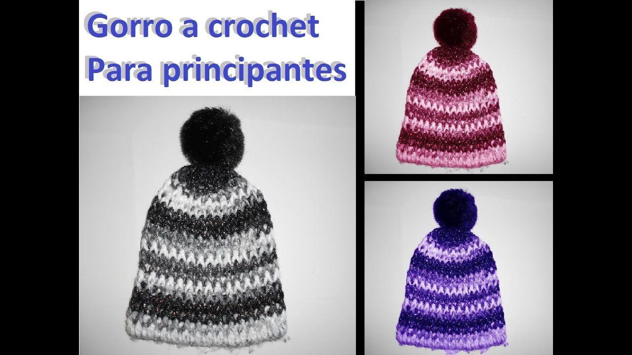 Gorro a crochet super fácil para principiantes - YouTube | gorras ...
