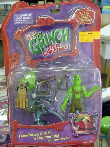 87410e09ecc20 Dr. Seuss  How the Grinch Stole Christmas Lederhosen Grinch  amp  Max the  Dog