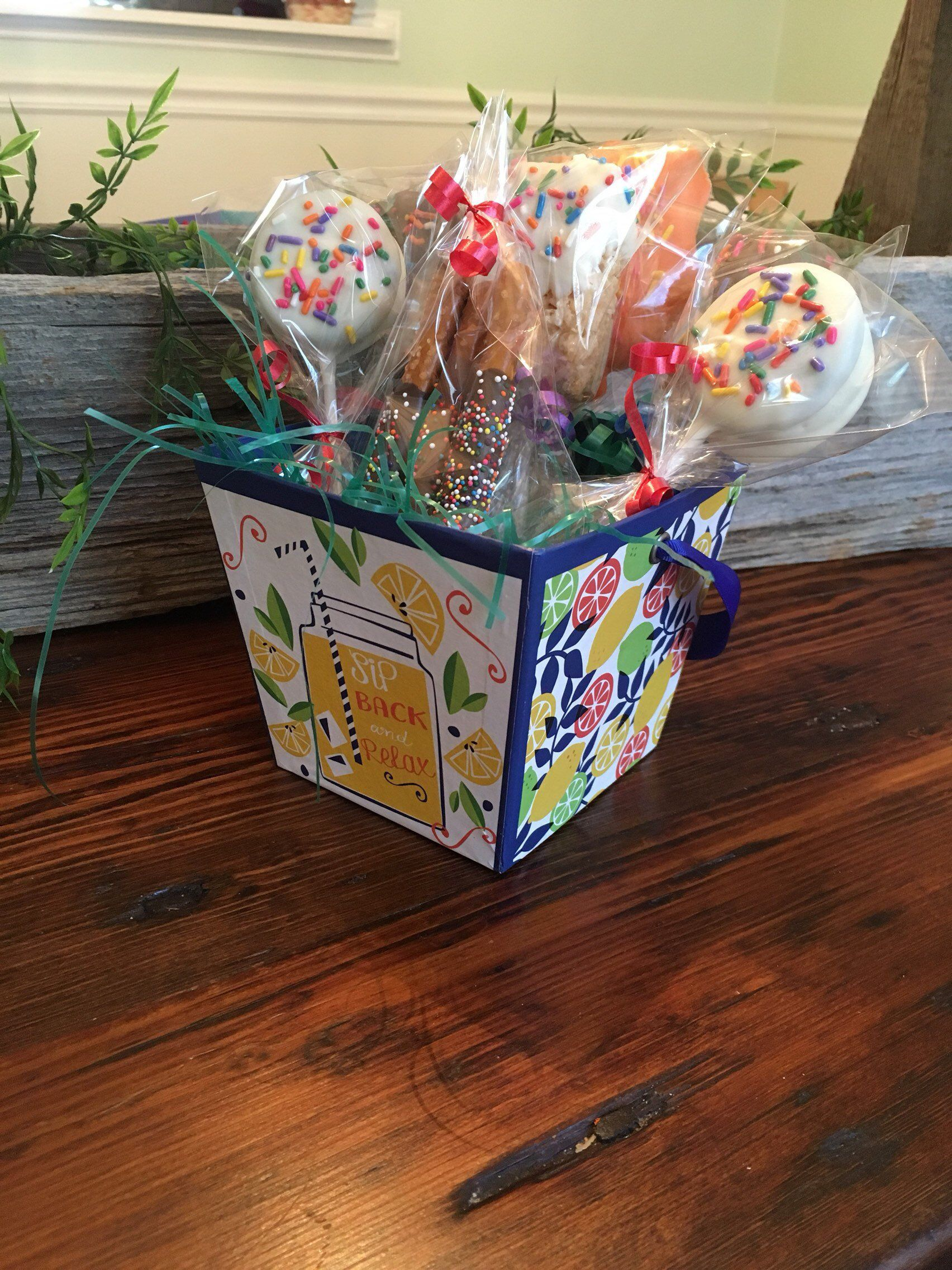 Chocolate gift basket candy gift basket birthday gifts