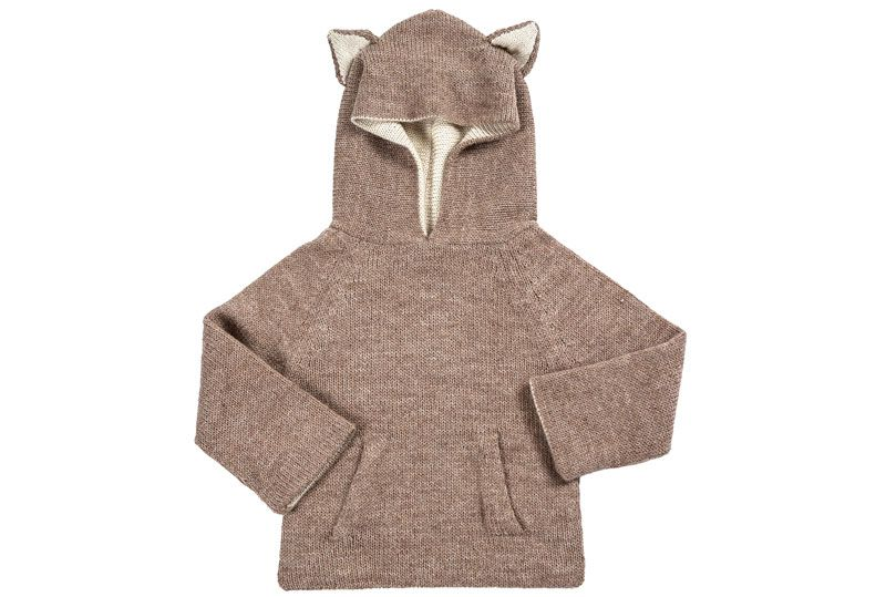 dc90f6fcc Llama hooded jumper - baby alpaca wool - Waddler