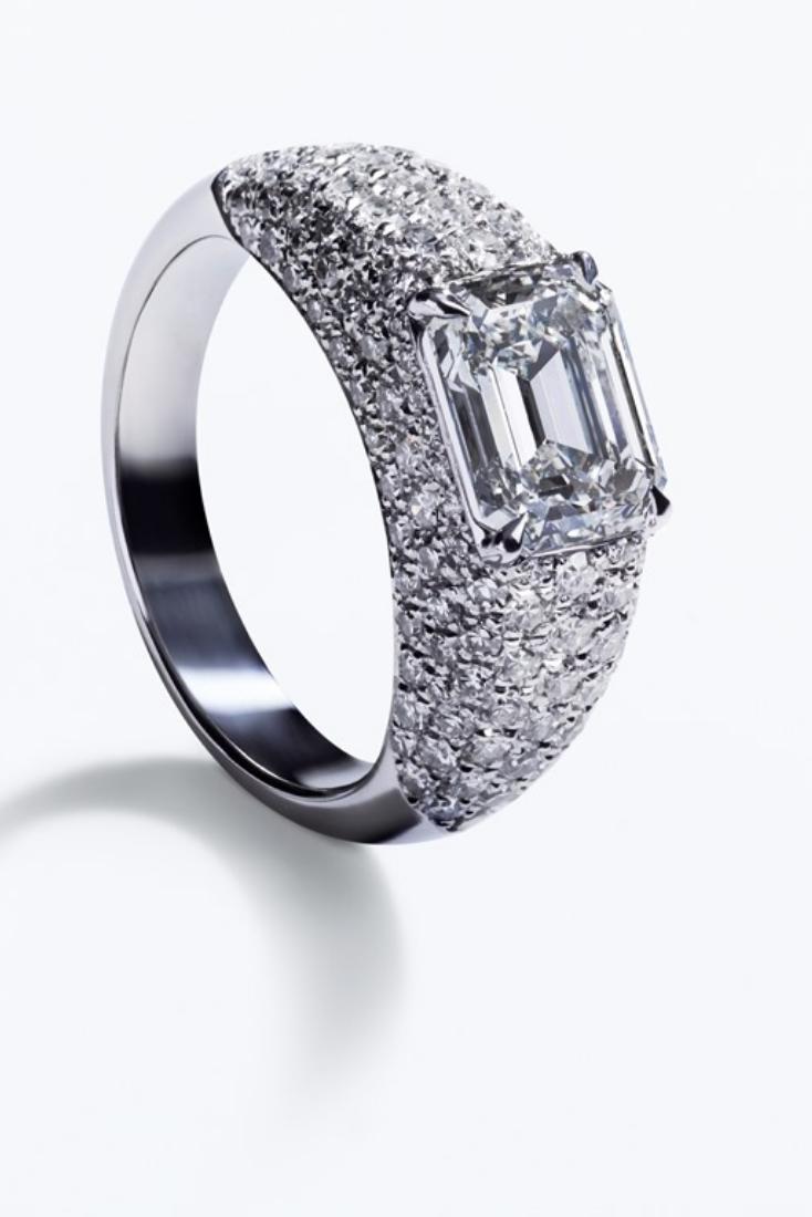 Handmade Sterling Silver long des tourbillons Design Doigt Wrap Bypass Ring