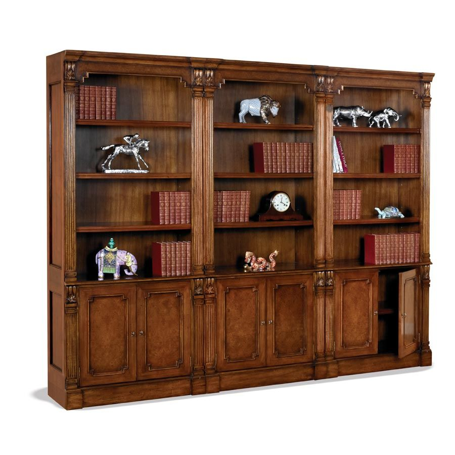 Tall Burl Wood Bookcase Bookcases Cabinets Chests Furniture Scullyandscully Fpo Item Sff2 081510 Sh1