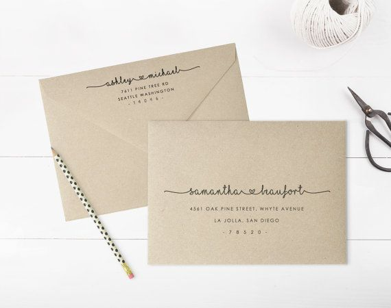 Printable Envelope Address Template Wedding