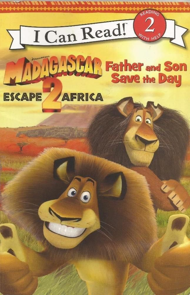 I Can Read ! Level 2 - Madagascar 2 - Father & Son Save The Day - S/Hand