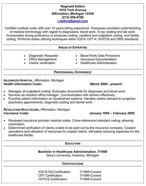 Resume For Medical Coder Job Resume Samples Medical Coder Resume Medical Coder Medical Coding Specialist