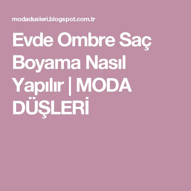 Evde Ombre Sac Boyama Nasil Yapilir