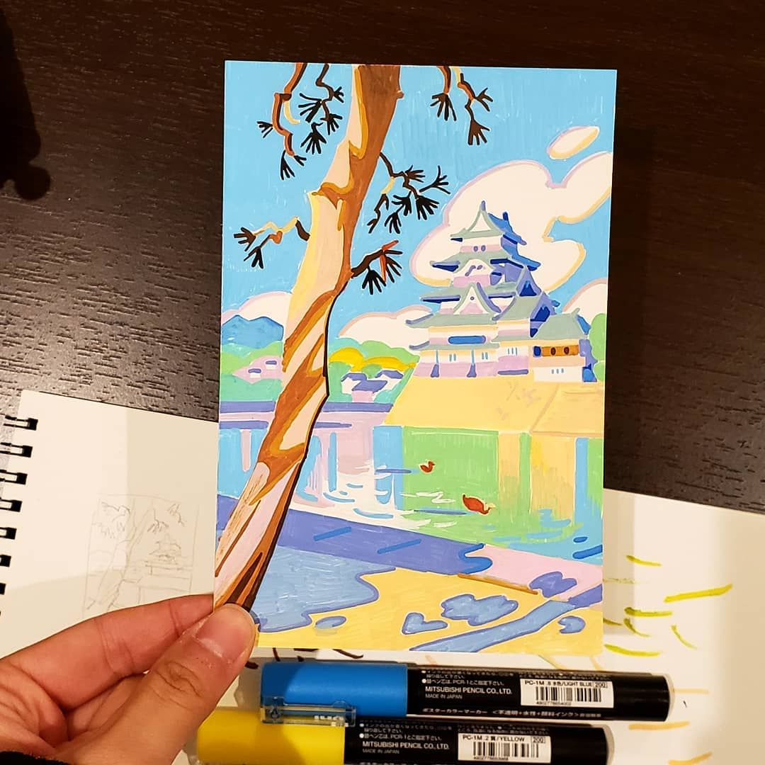 21 Days In Japan: Artist Recreates Scenes Of Japan Through Pleasing Pastel-Colored Illustrations