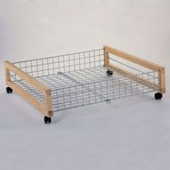 Under Bed Shoe Storage With Wheels Mesmerizing Metal Underbed Storage Rack On Castors £1499  Stuff To Make Decorating Design