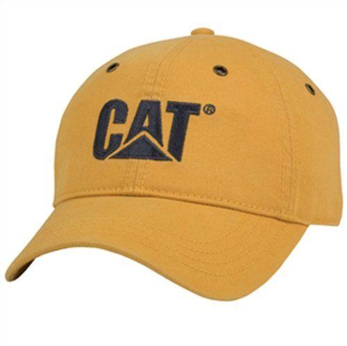 00f53136307 Caterpillar CAT Mustard Hat w  Grommets BDA https   www.amazon.