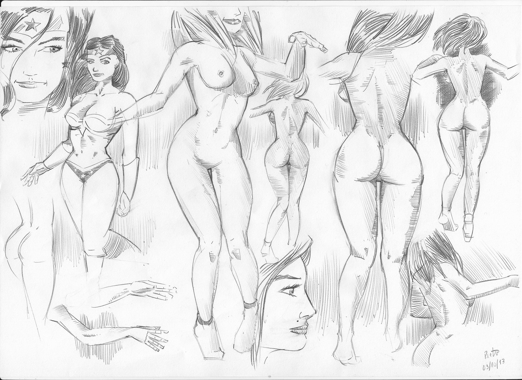 Estudos de anatomia feminina / Female anatomy studies ...