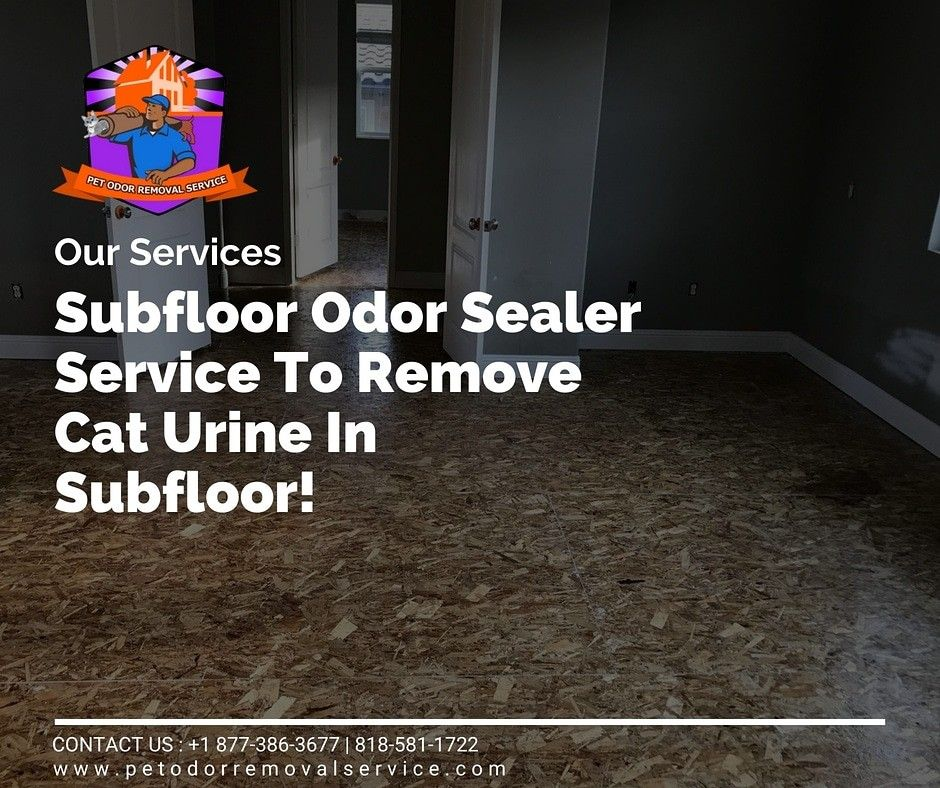 To Remove Cat Urine In Subfloor Contact Us 1 877 386 3677 818 581 1722 Www Petodorremovalservice Com Cleanings Cat Urine Remover Pet Odors Cat Pee Smell