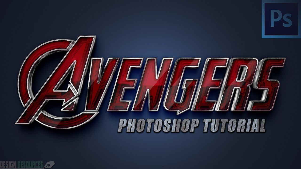 Avengers Text Style — Tutorial