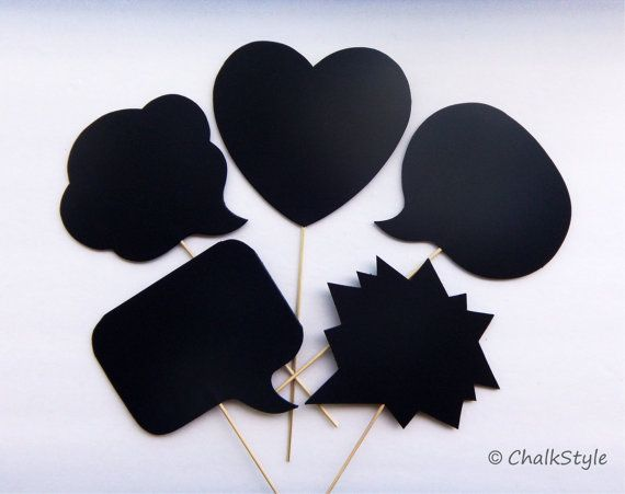 Pick 3 Chalkboard Photo Booth Props Sch Bubbles On A Stick Thought And Heart Chalk Board For Wedding Engagement Photos Choose