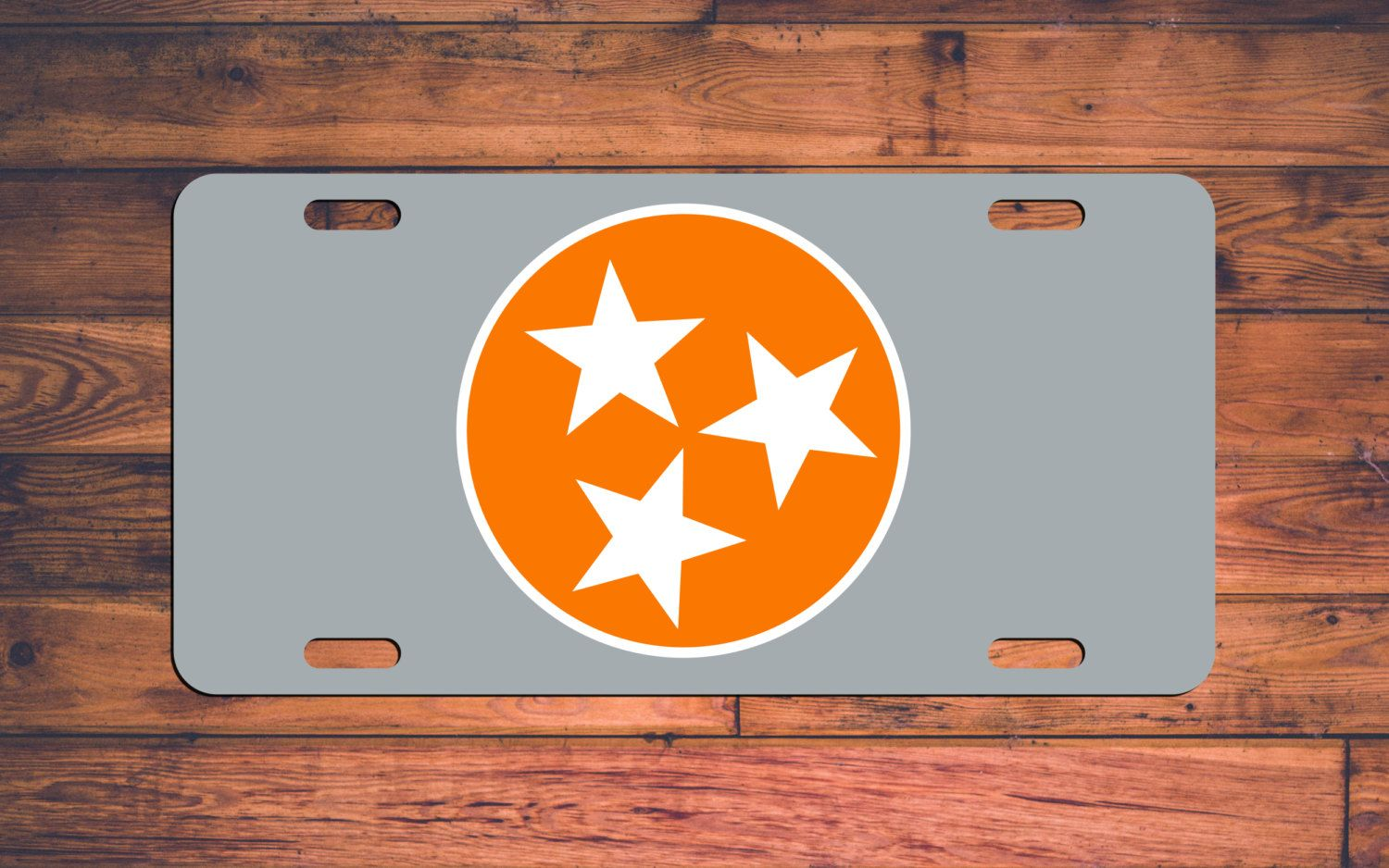Tennessee VOLS License Plate TN Volunteers Car Tag - 3 Stars Orange ...