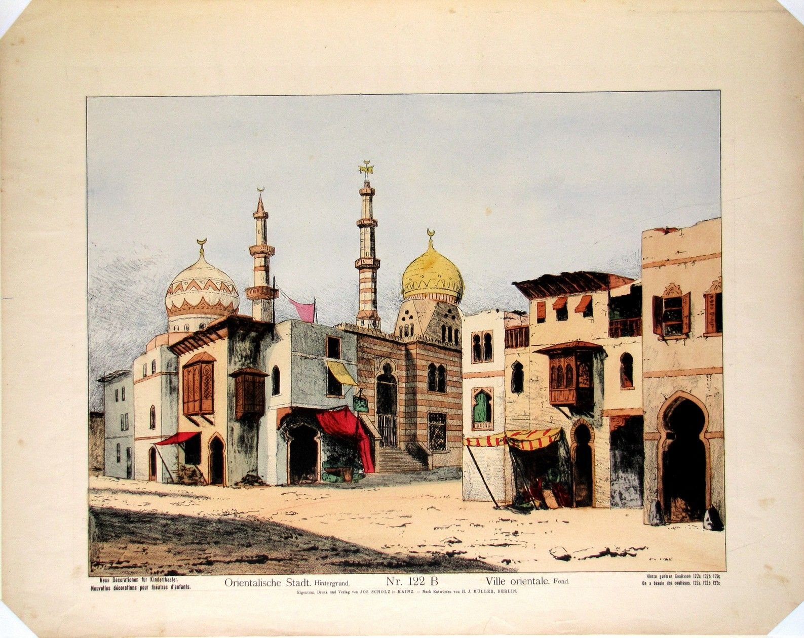 Orientalische Stadt. Nr. 122 B Background