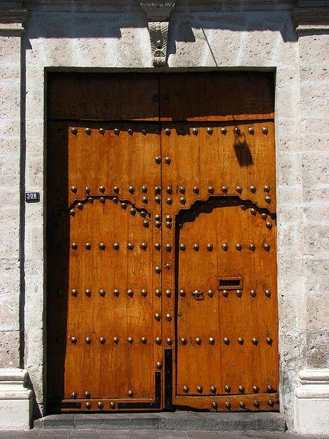 Door  Iglesia San Francisco, Arequipa, Peru