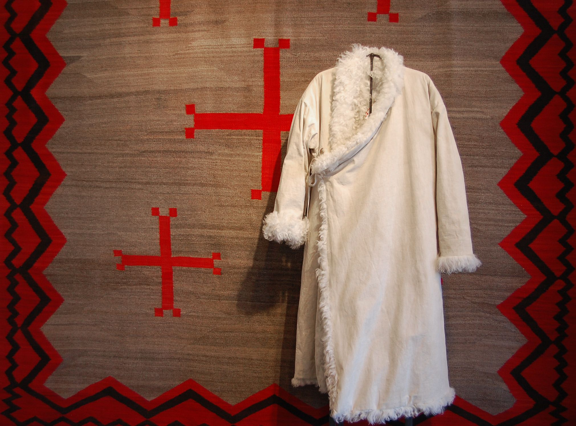 Navajo Ganado textile c. 1905 with the Lhamo Robe