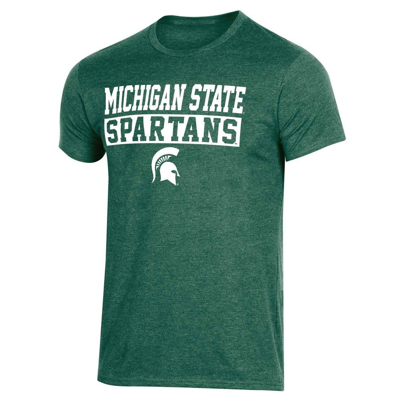 Ncaa Michigan State Spartans Men S Short Sleeve Crew Neck T Shirt In 2020 Men Short Sleeve Shirts Michigan State Spartans [ 1400 x 1400 Pixel ]